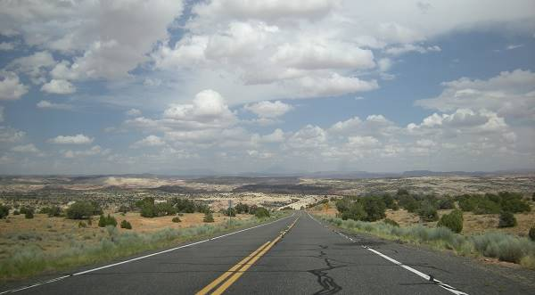 view of Route 66 in Arizona