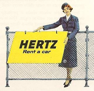 vintage advertisement of Car rental
