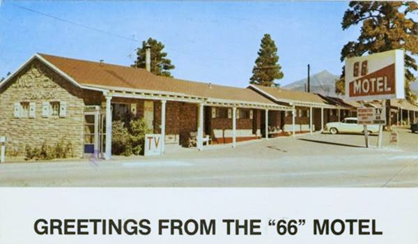 Motel 66 in the 1950s, Flagstaff Route 66, Arizona
