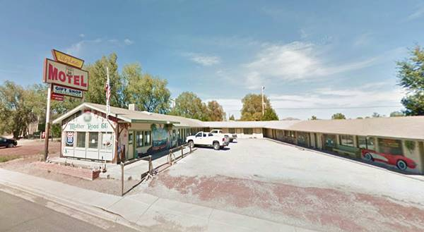 A View Of The Aztec Motel Now In Seligman Az