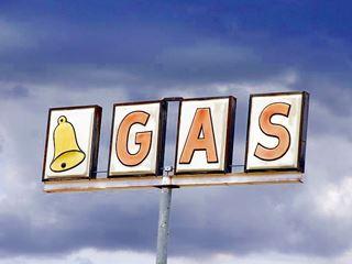 old bell gasoline sign