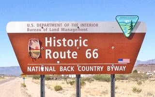 Back Country Byway sign on Route 66