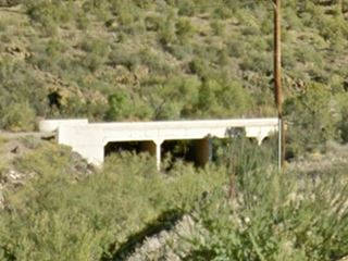 The 1930s concrete bridge on the abandoned aligment of Route 66 in Crozier Canyon, AZ