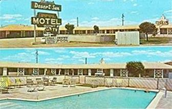 Vintage postcard of the Desert Sun Motel in Winslow Arizona