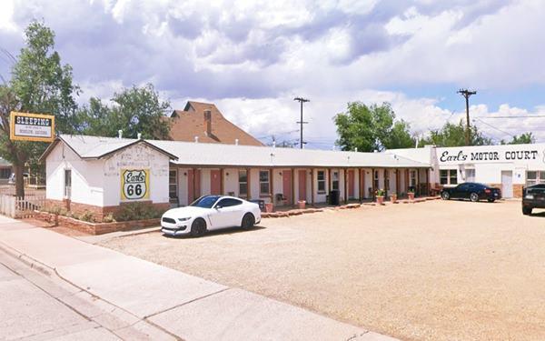 Earl's motel today Route 66 in Winslow, AZ