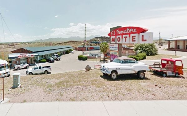 The Trovatore Motel nowadays. Kingman AZ