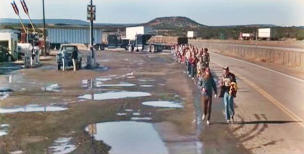 scene from Forrest Gump, filmed at Twin Arrows trading post