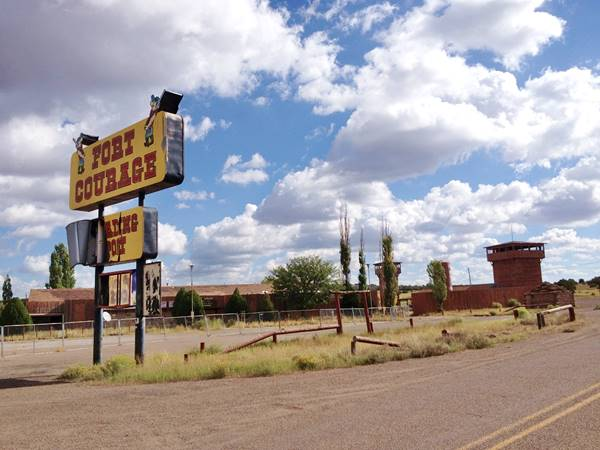 Ft. Courage on Route 66 in Houck Arizona, today