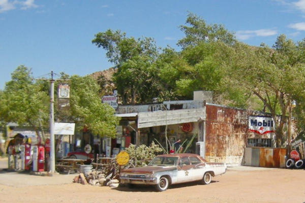 a view of the General Store in Hackberry, on Route 66, Arizona