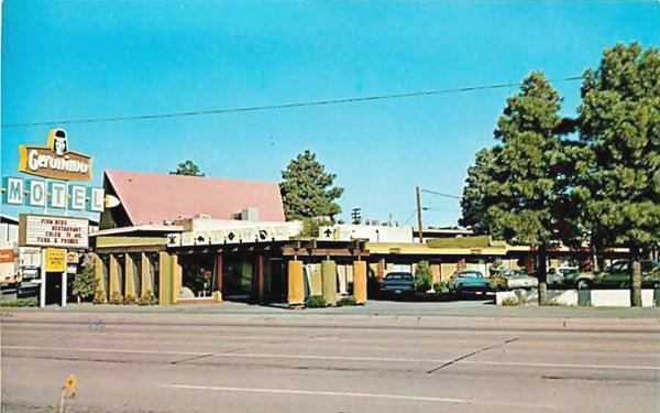 Geronimo Motel 1970s postcard, Flagstaff Route 66, Arizona
