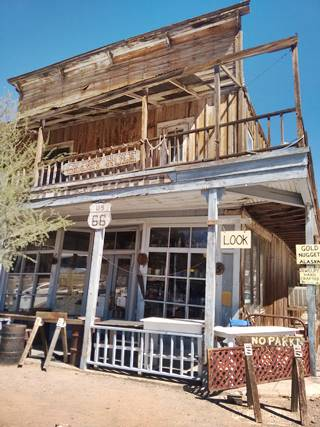 Glory Hole saloon building in Oatman