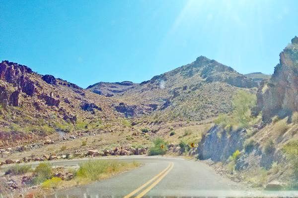 See how the hairpin bend looks today, Goldenroad AZ