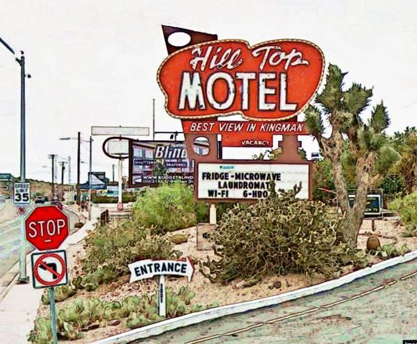 The Hill Top motel neon sign, Kingman AZ