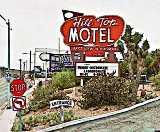 Motel Sign In Kingman Arizona Route 66
