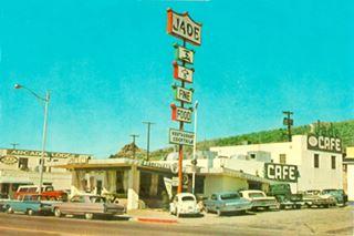 Jade Chinese food in Kingman, a 1960s postcard