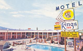 The King's Inn Motel 1960s postcard
