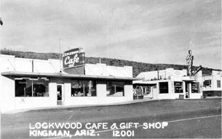 Lockwood Cafe in a 1950s postcard