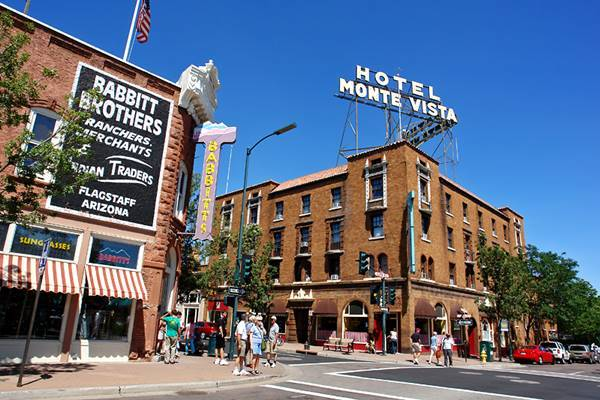 A view of the classic Monte Vista Hotel, Flagstaff Route 66,  Arizona