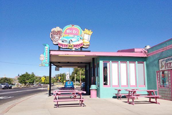 Mr. D'z Diner, Route 66 in Kingman Arizona