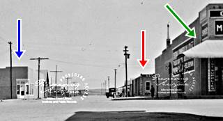 The view along North Main Street from Route 66 in a 1940 photo