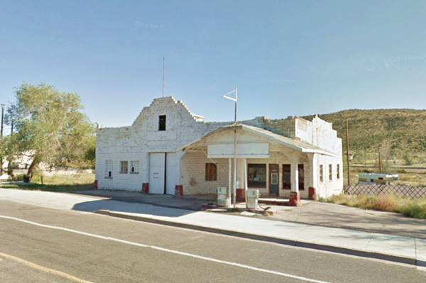 The Historic Osterman Service Station as it looks today, in Peach Springs AZ