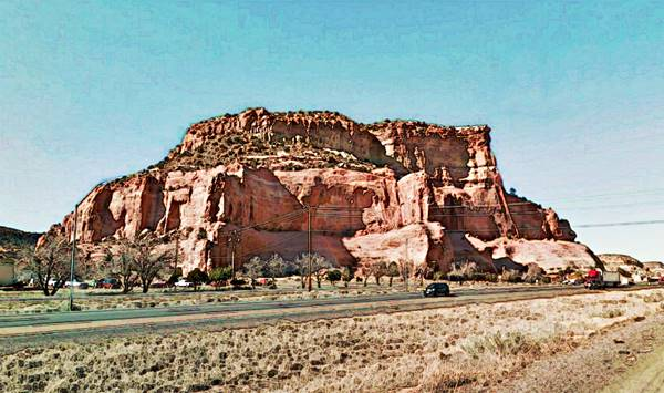 View of Painted Cliffs on Route 66 in Lupton AZ