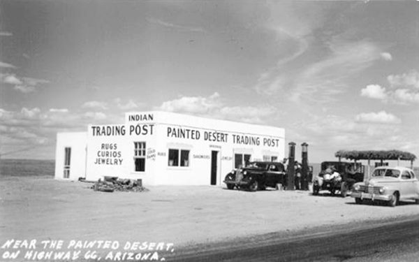 Painted Desert Trading Post, Petrified Forest National Park near Holbrook, AZ. Route 66