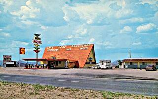 a vintage view of the Ranchero(s) motel in Antares AZ
