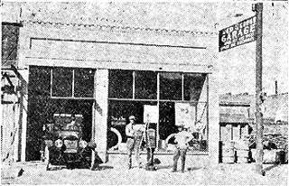 The Red Cross Garage in a 1917 map
