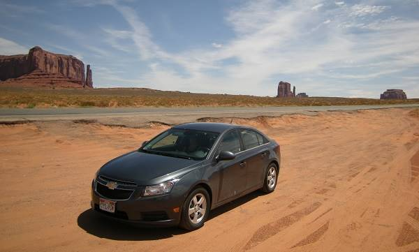 Rented Car Monument Valley, Arizona