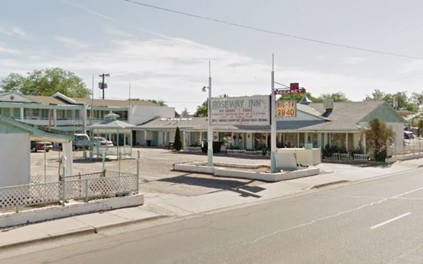 View of roseway Route 66 in HolbrookArizona