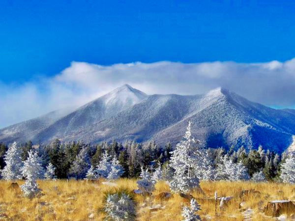 snow dusted mountains of the San Francisco Peaks, Flagstaff