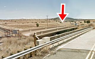 the old 1930s bridge on Route 66 near, Seligman AZ