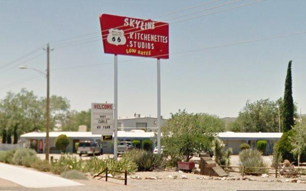 The Skyline Motel nowadays,Kingman AZ