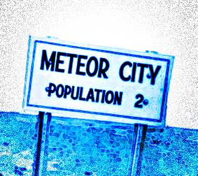 Smallest town on Route 66: Meteor City
