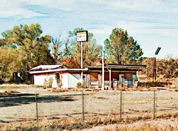 Stop and Go Café and Filling Station on Route 66 in Sanders Arizona