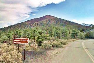 View of Sunset Crater volcano, Flagstaff Arizona