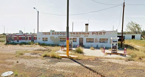Street View of Twin Arrows today, Arizona