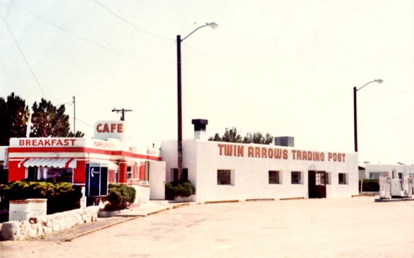 1960s view of Twin Arrows trading post