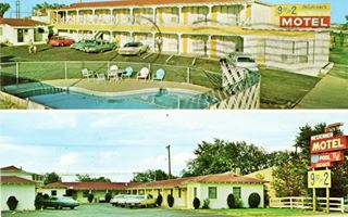 Vintage postcard of the Western Motel in Winslow Arizona