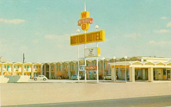 North Holbrook Whiting Bros. Motel 1960s postcard