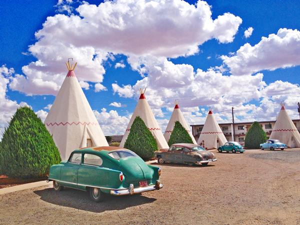 Historic Wigwam Motel on Route 66 near Holbrook Arizona