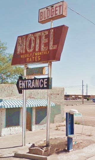 former L-Z Motel neon sign, Winslow Arizona