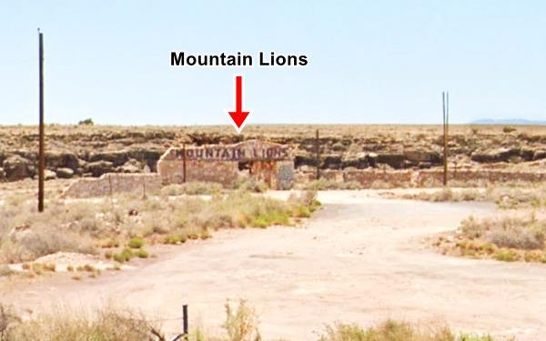 Street View of the old Zoo, Mountain Lions, Two Guns Arizona, Route 66