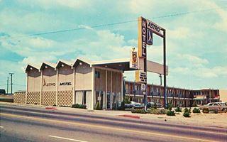 Astro Motel in a vintage postcard