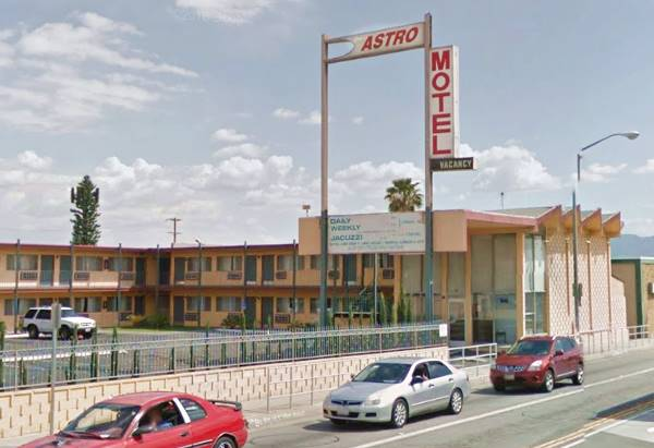 present appearance of the Astro Motel in San Bernardino