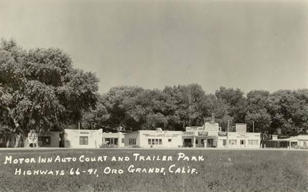 Postcard of Oro Grande auto court c.1930s