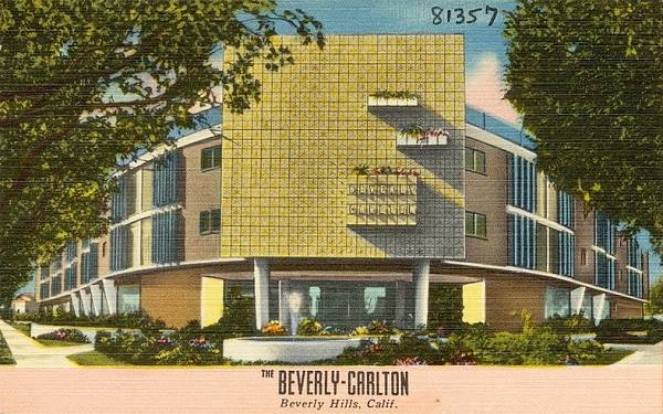 Antique postcard view of the Carlton Hotel