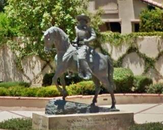 the Andres Duarte equestrian bronze, Duarte CA