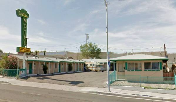 Cactus Motel today: a still the Cactus Motel on Route 66 in Barstow